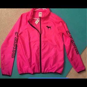 Victoria's Secret hot pink windbreaker
